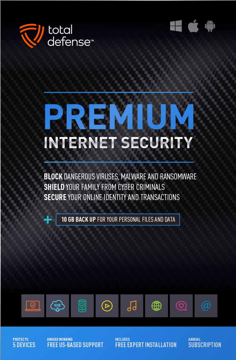 Premium Internet Security Total Defense Antivirus Mcafee 3 Year Original