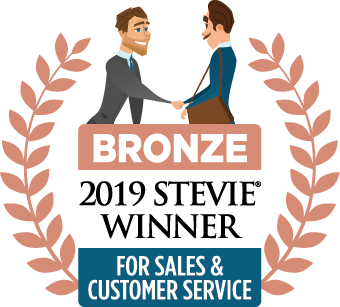 Bronze Winner for Customer Service Department of the Year at 2019 Stevie Awards