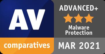 AV Comparatives Advanced Plus Malware Protection