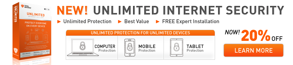 NEW! Unlimited Internet Security - US$9.99/Month